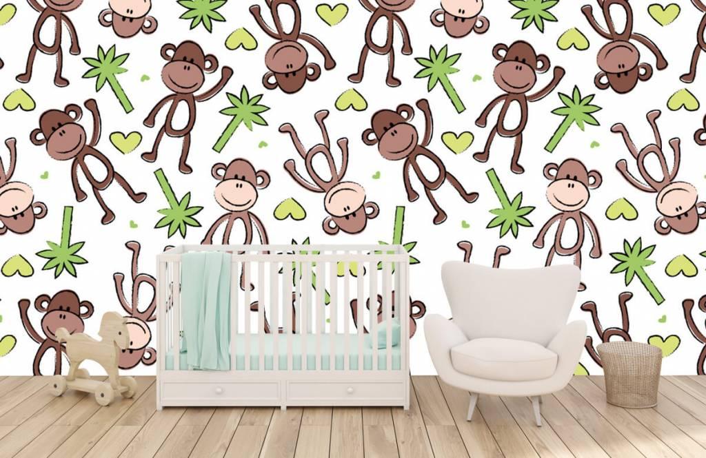Zeedieren - Aapjes en palmbomen - Kinderkamer 6