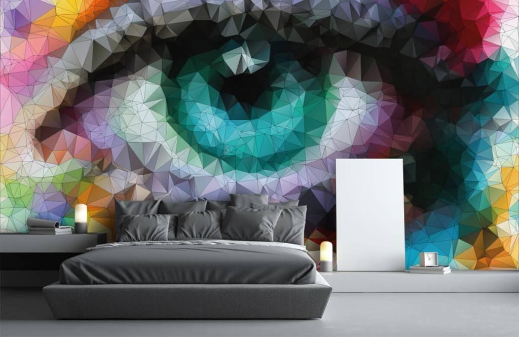Gezichten & Portret - Abstract oog - Hobbykamer 1