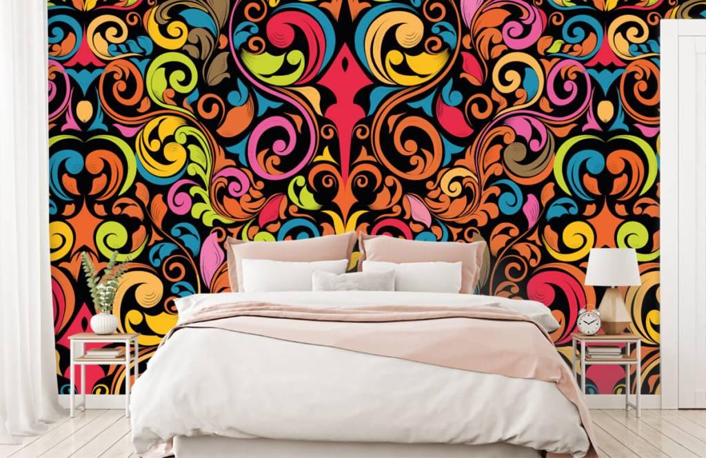 Abstract behang - Abstracte gekleurde figuren - Keuken 1