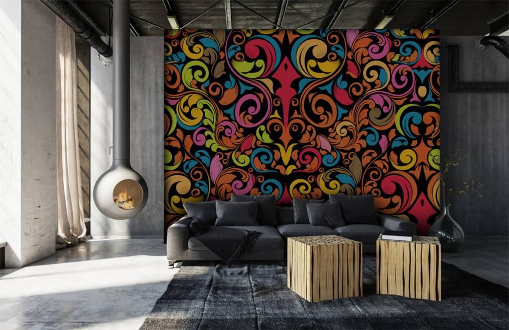 Abstract behang - Abstracte gekleurde figuren - Keuken 2