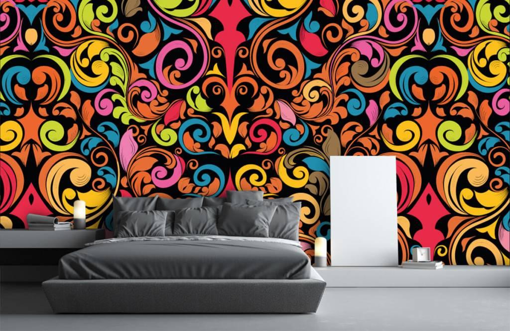 Abstract behang - Abstracte gekleurde figuren - Keuken 3