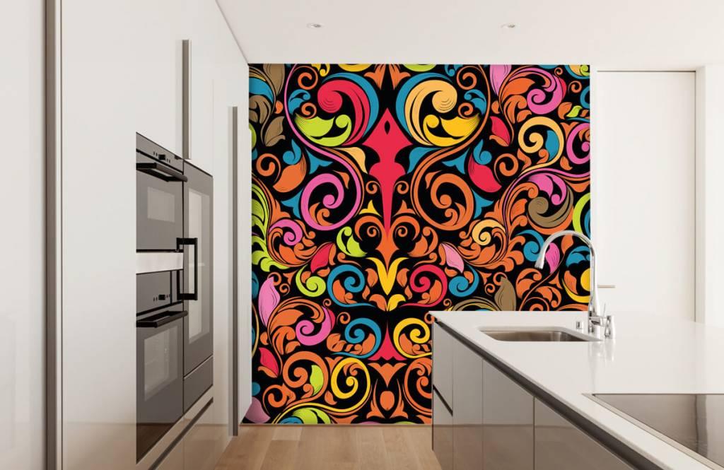 Abstract behang - Abstracte gekleurde figuren - Keuken 4
