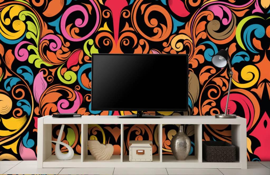 Abstract behang - Abstracte gekleurde figuren - Keuken 5