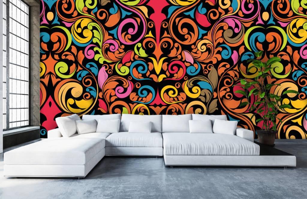 Abstract behang - Abstracte gekleurde figuren - Keuken 6