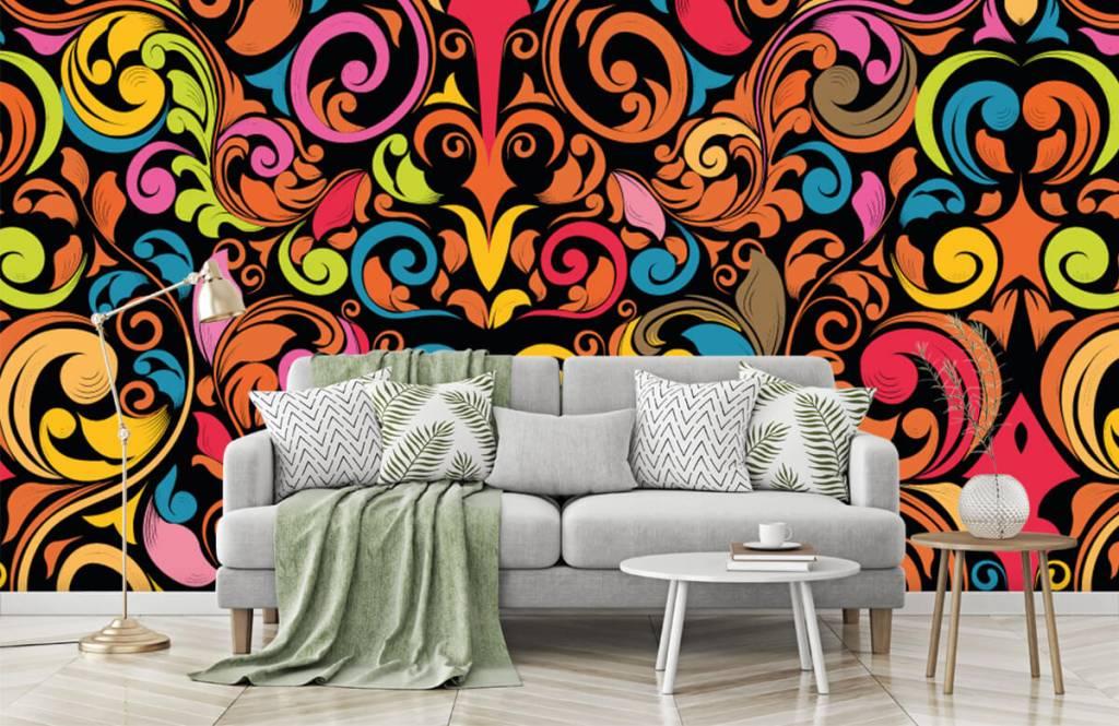 Abstract behang - Abstracte gekleurde figuren - Keuken 7