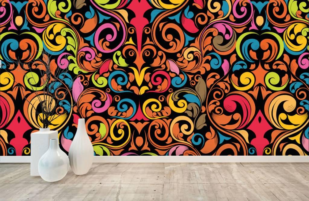 Abstract behang - Abstracte gekleurde figuren - Keuken 8