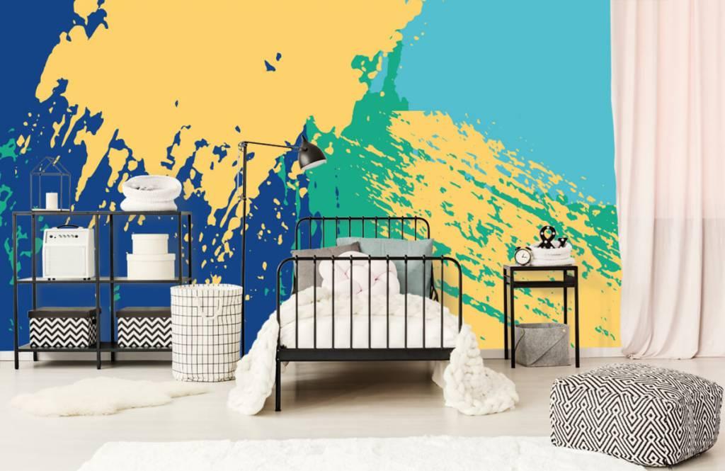 Abstract behang - Abstracte vlakken in kleur - Hobbykamer 1