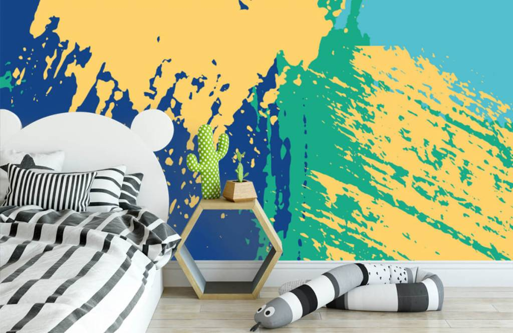 Abstract behang - Abstracte vlakken in kleur - Hobbykamer 2