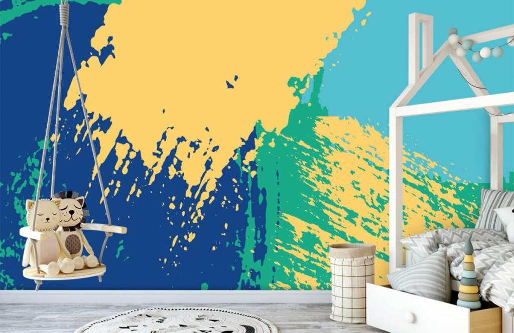 Abstract behang - Abstracte vlakken in kleur - Hobbykamer 3
