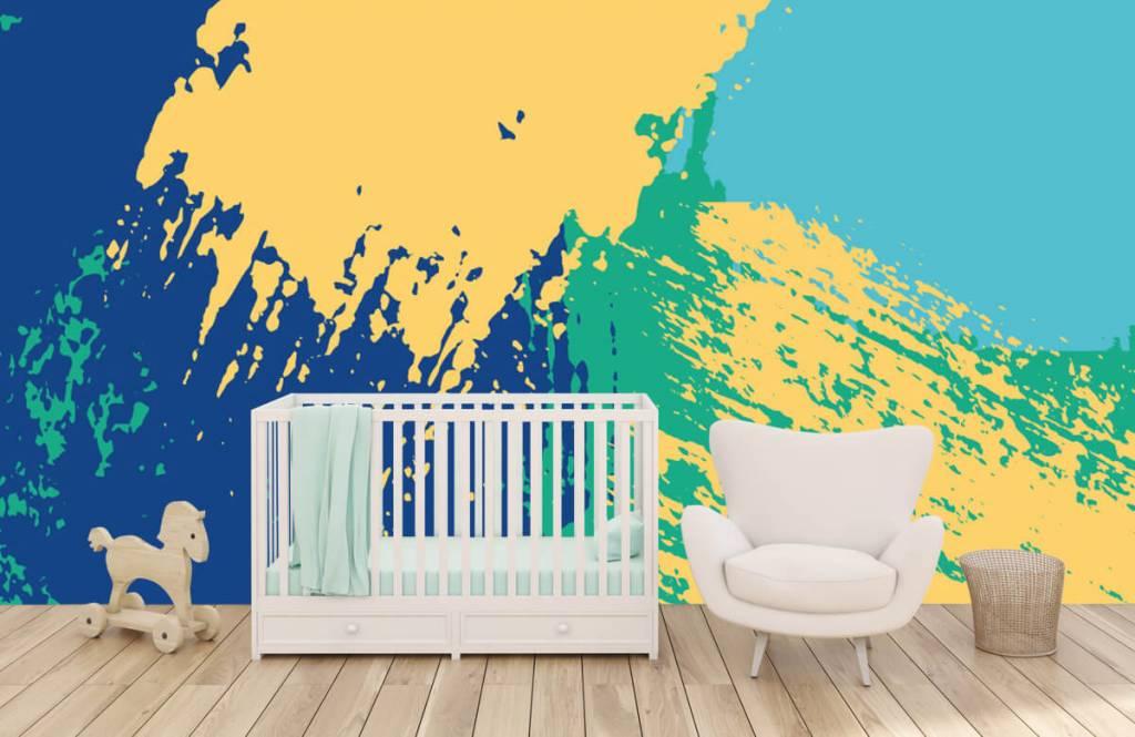 Abstract behang - Abstracte vlakken in kleur - Hobbykamer 5