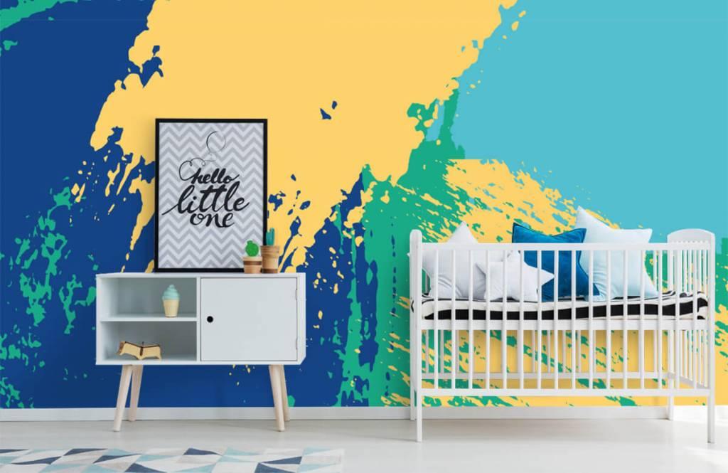 Abstract behang - Abstracte vlakken in kleur - Hobbykamer 6