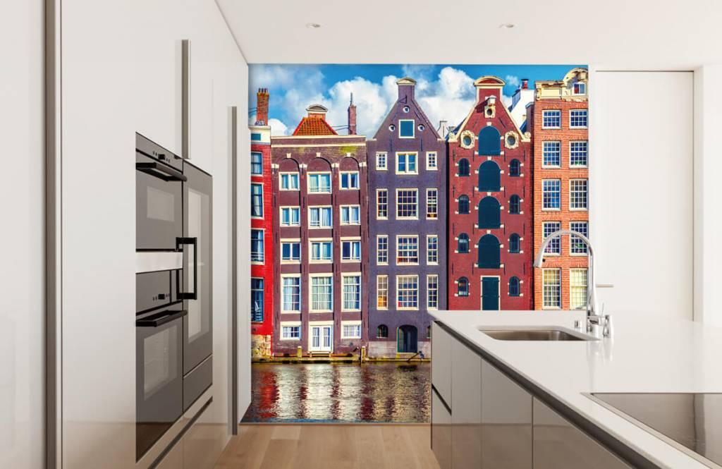 Steden behang - Amsterdamse huizen - Slaapkamer 4