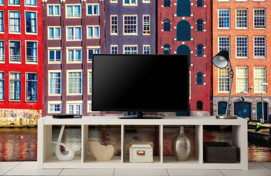 Steden behang - Amsterdamse huizen - Slaapkamer 5