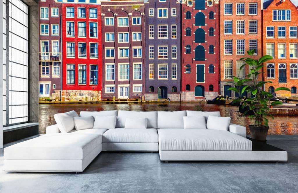 Steden behang - Amsterdamse huizen - Slaapkamer 6