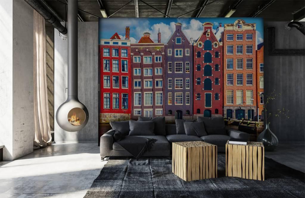 Steden behang - Amsterdamse huizen - Slaapkamer 7