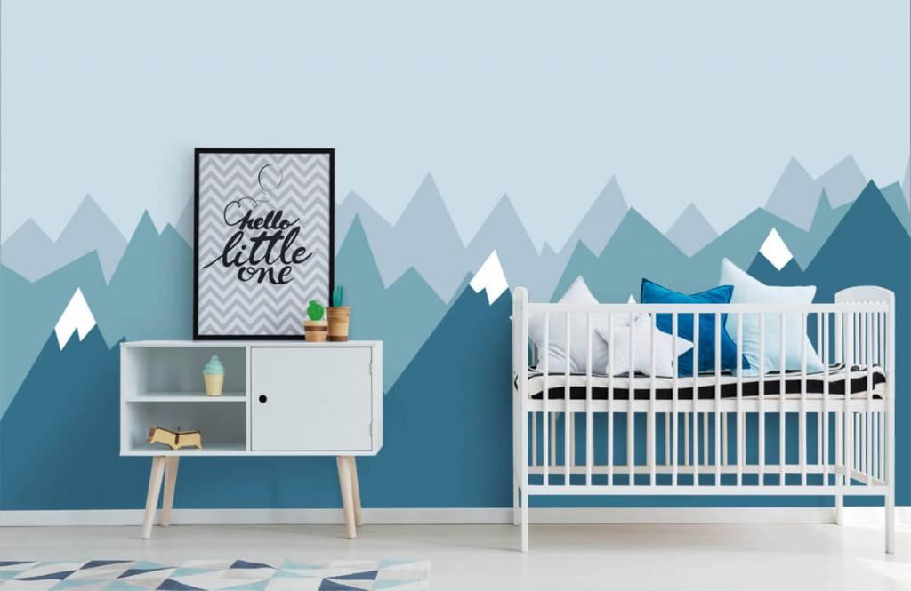 Illustraties - Blauwe bergen - Kinderkamer 1