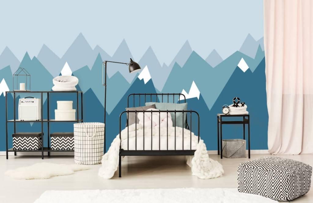 Illustraties - Blauwe bergen - Kinderkamer 2
