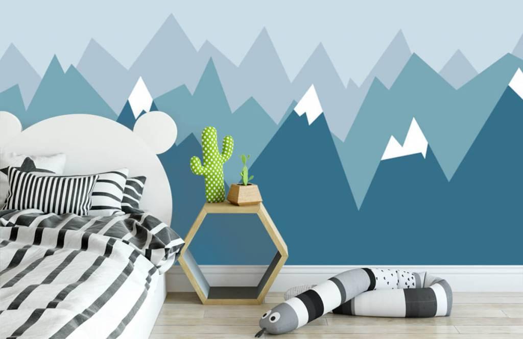 Illustraties - Blauwe bergen - Kinderkamer 3