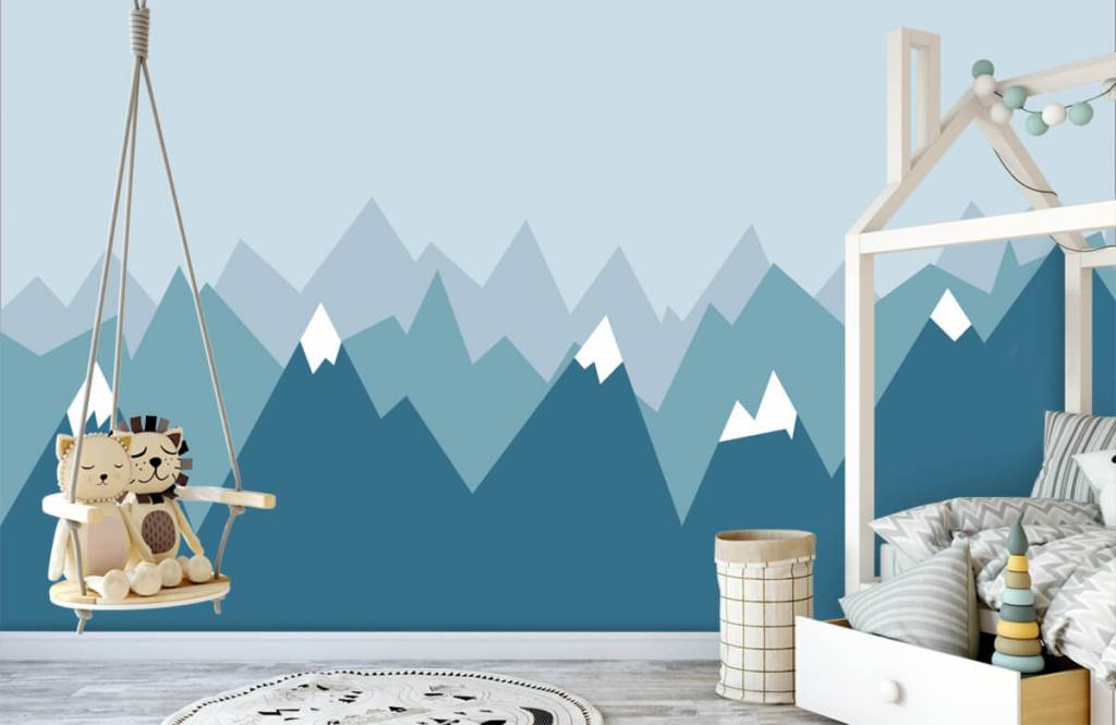 Illustraties - Blauwe bergen - Kinderkamer 4