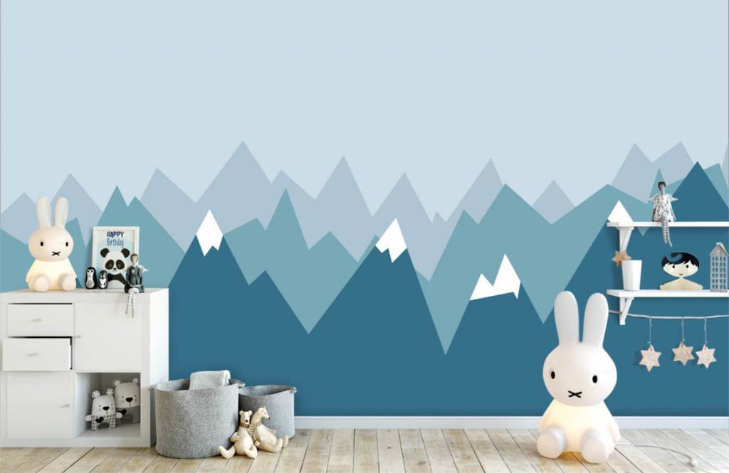 Illustraties - Blauwe bergen - Kinderkamer 5