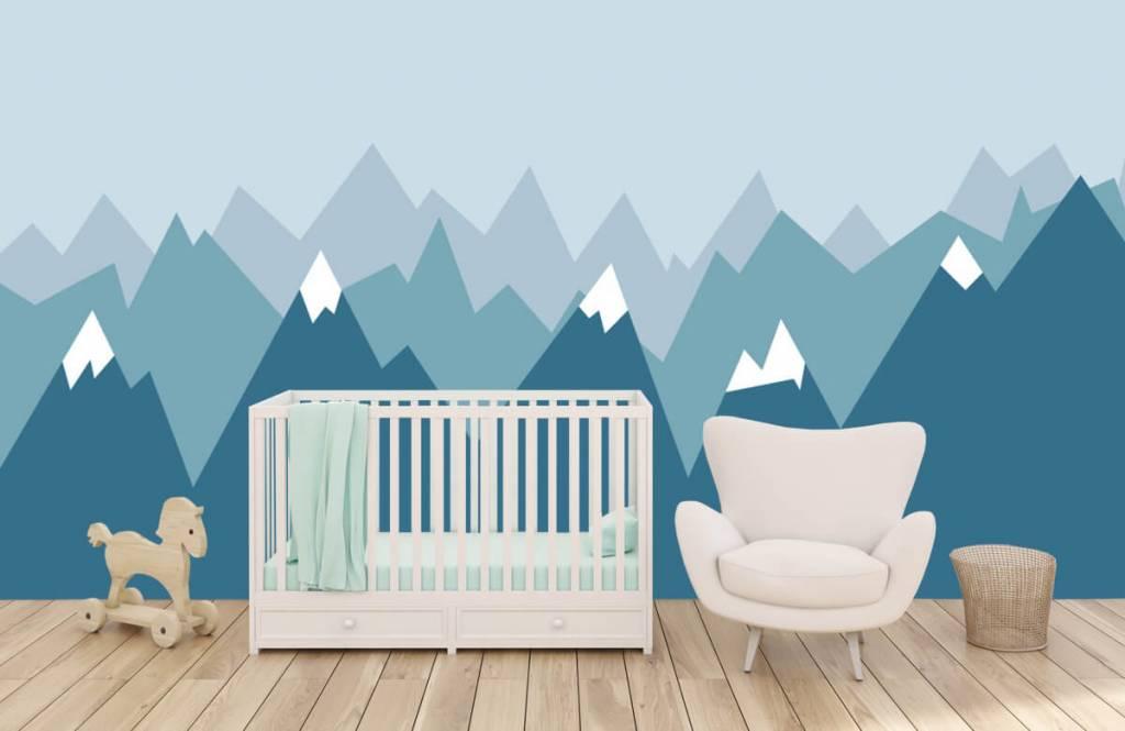 Illustraties - Blauwe bergen - Kinderkamer 6