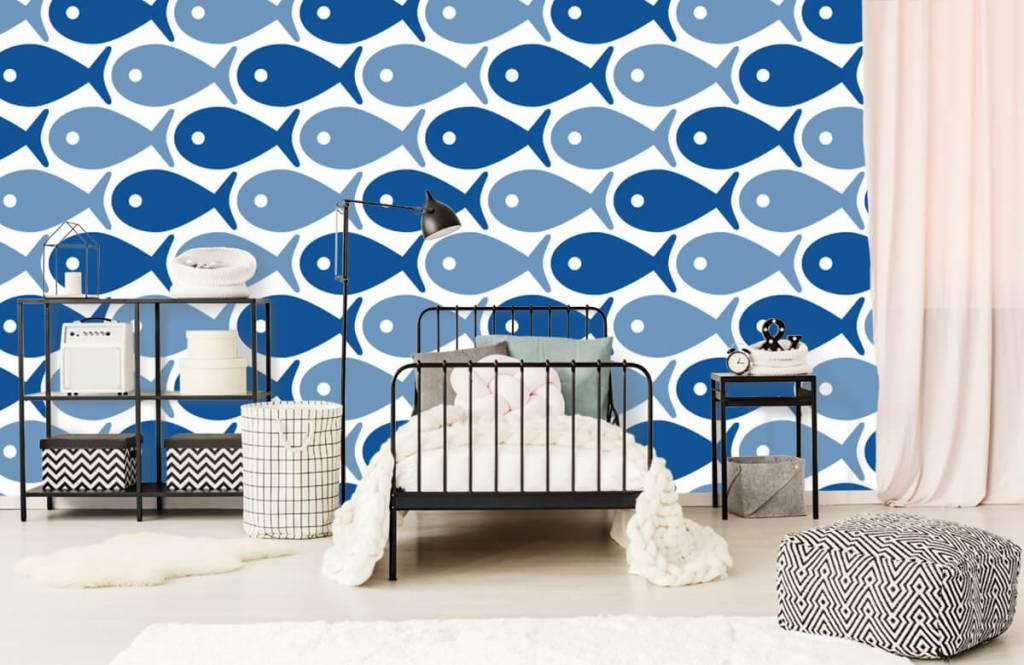Zeedieren - Blauwe vissen - Kinderkamer 2