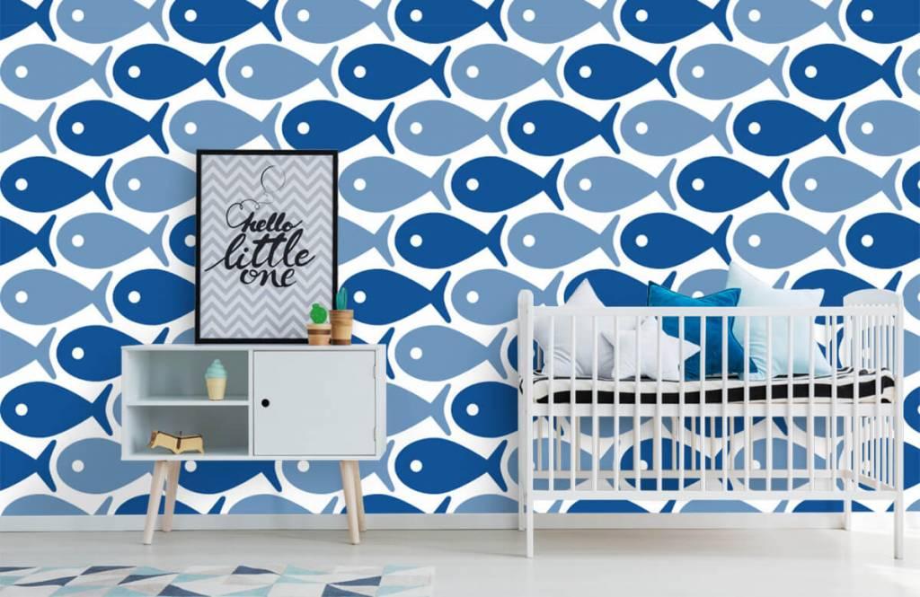 Zeedieren - Blauwe vissen - Kinderkamer 6