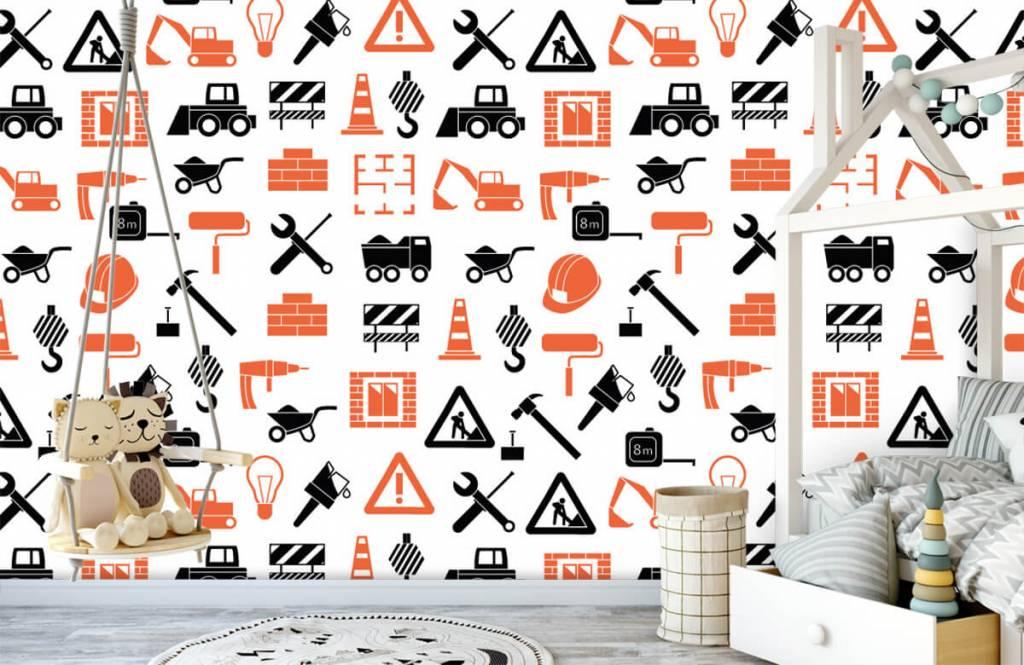 Overige - Bouwvoertuigen en bouwmateriaal - Kinderkamer 4