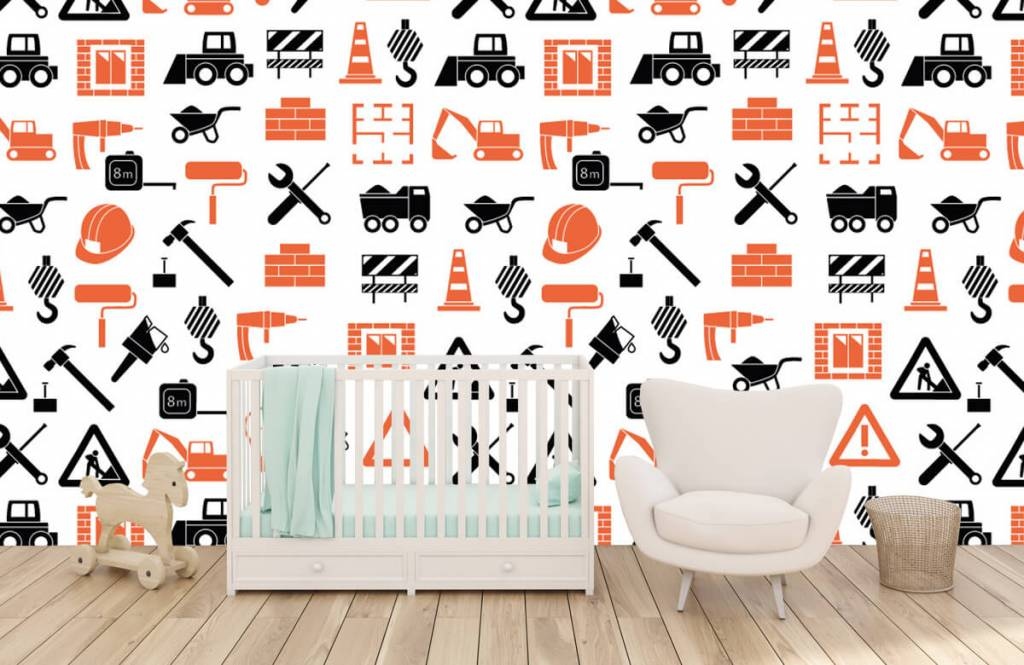 Overige - Bouwvoertuigen en bouwmateriaal - Kinderkamer 5