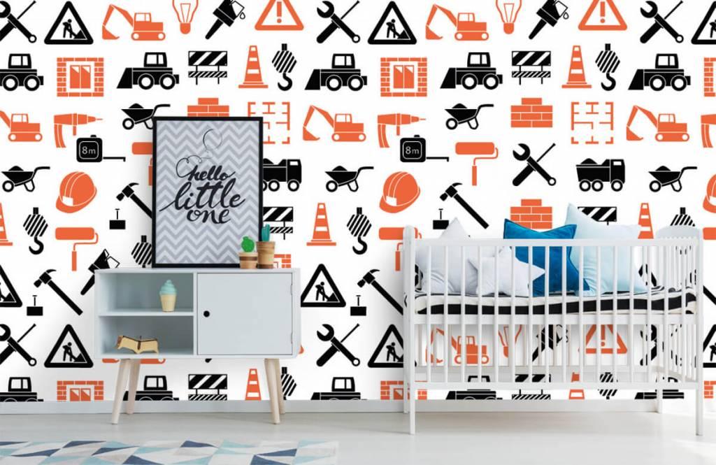 Overige - Bouwvoertuigen en bouwmateriaal - Kinderkamer 6
