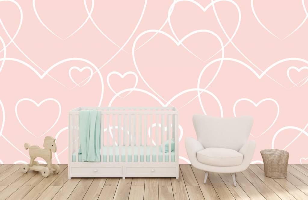 Overige - Crème hartjes - Kinderkamer 5