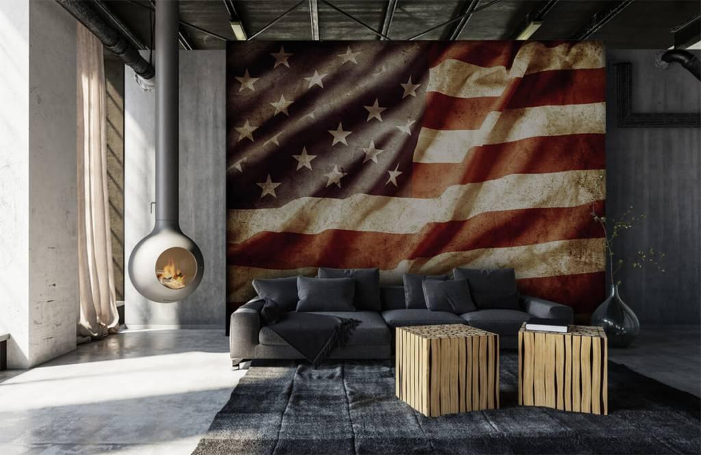 Jongensbehang - Amerikaanse vlag - Tienerkamer 1