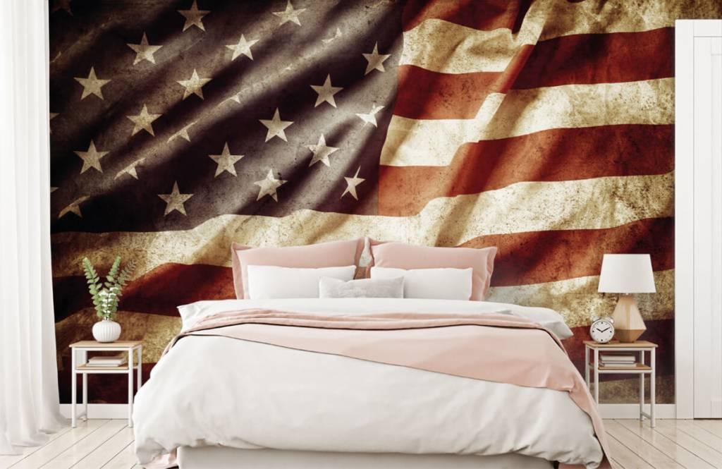 Jongensbehang - Amerikaanse vlag - Tienerkamer 3