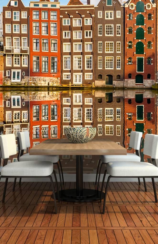 Steden behang - Amsterdamse gracht - Slaapkamer 2