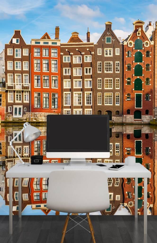 Steden behang - Amsterdamse gracht - Slaapkamer 3
