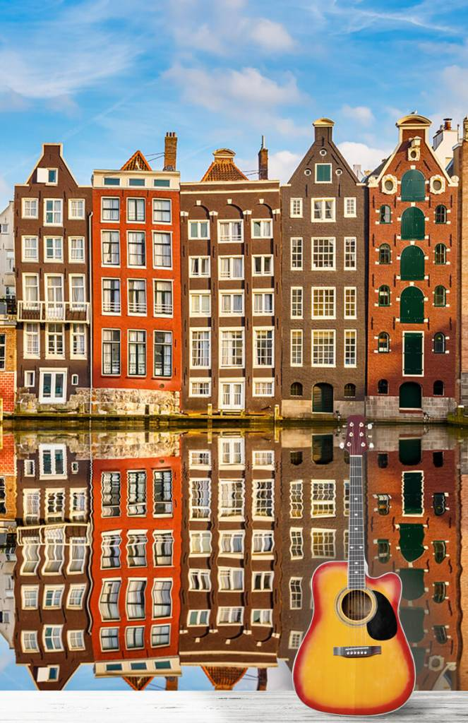 Steden behang - Amsterdamse gracht - Slaapkamer 5