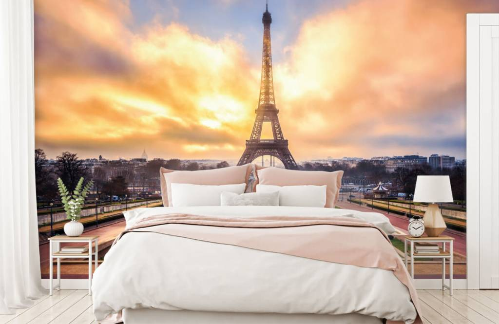 Steden behang - Eiffeltoren - Slaapkamer 2