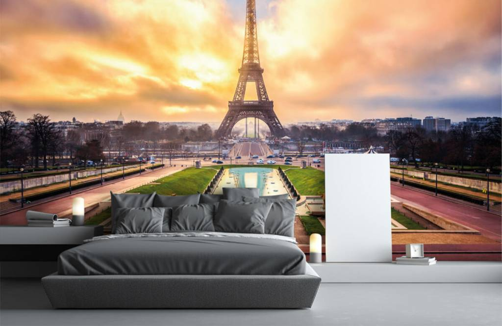 Steden behang - Eiffeltoren - Slaapkamer 3