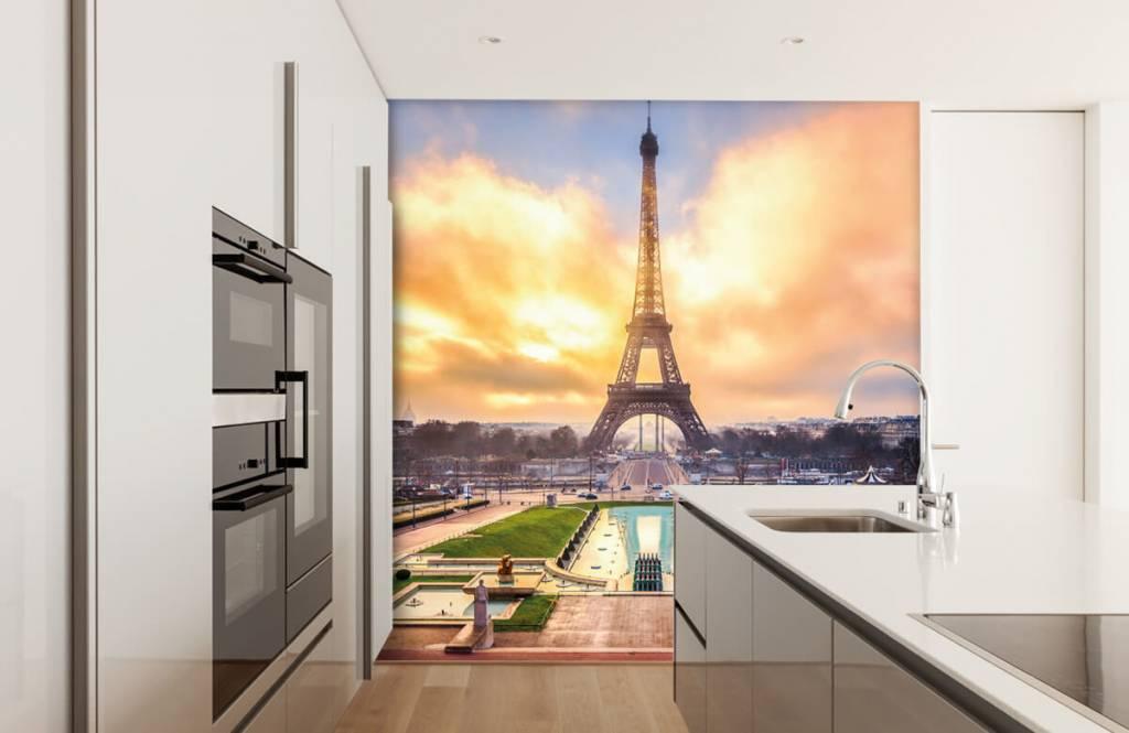 Steden behang - Eiffeltoren - Slaapkamer 4