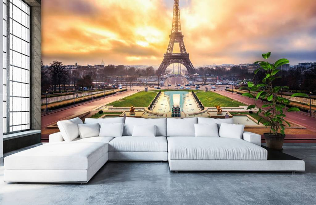 Steden behang - Eiffeltoren - Slaapkamer 6