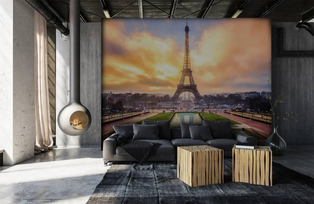 Steden behang - Eiffeltoren - Slaapkamer 7