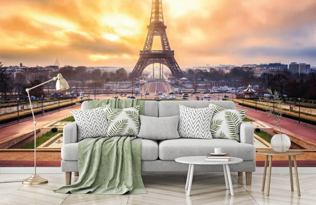 Steden behang - Eiffeltoren - Slaapkamer 8