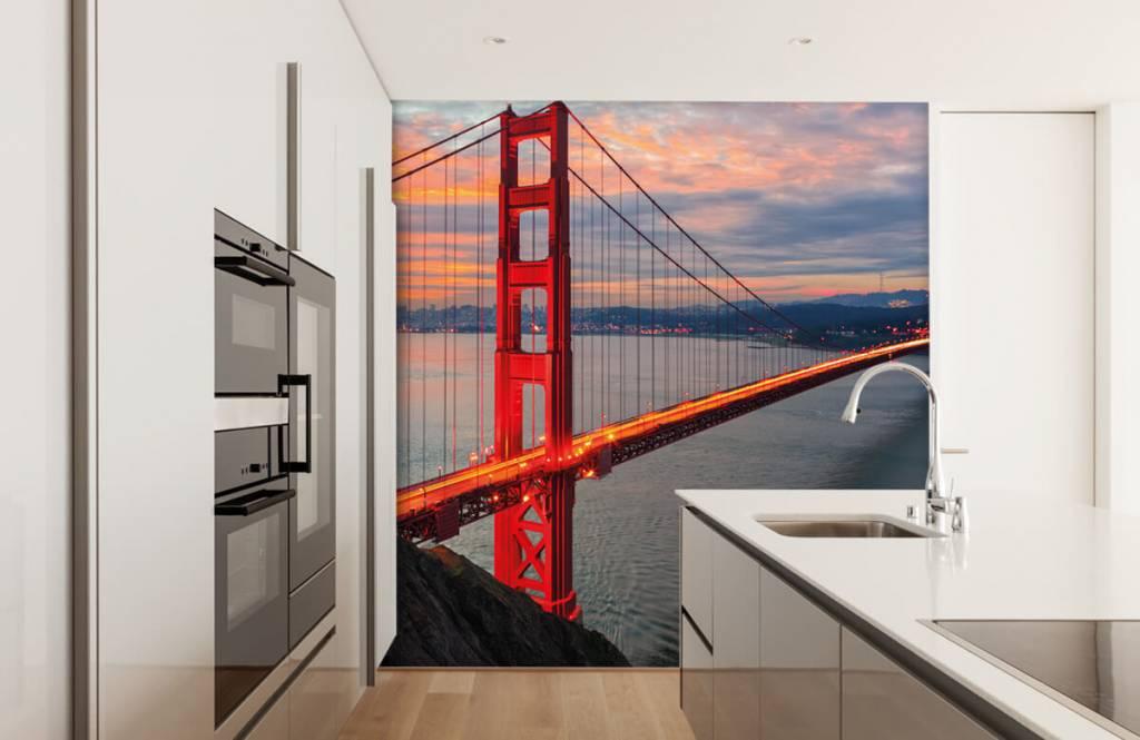 Steden behang - Golden Gate Bridge - Slaapkamer 4