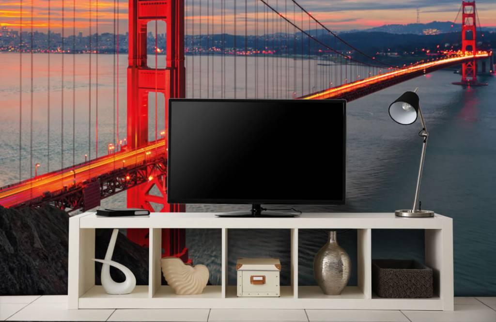 Steden behang - Golden Gate Bridge - Slaapkamer 5