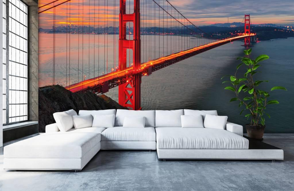 Steden behang - Golden Gate Bridge - Slaapkamer 6
