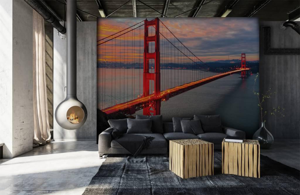 Steden behang - Golden Gate Bridge - Slaapkamer 7