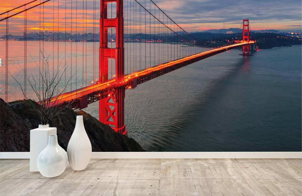 Steden behang - Golden Gate Bridge - Slaapkamer 8