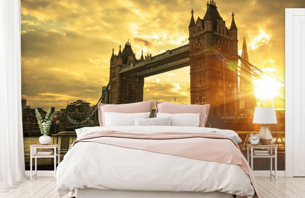 Steden behang - Londen Tower Bridge - Slaapkamer 2