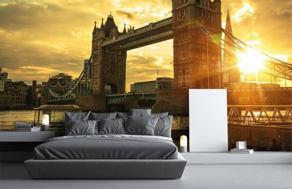 Steden behang - Londen Tower Bridge - Slaapkamer 3