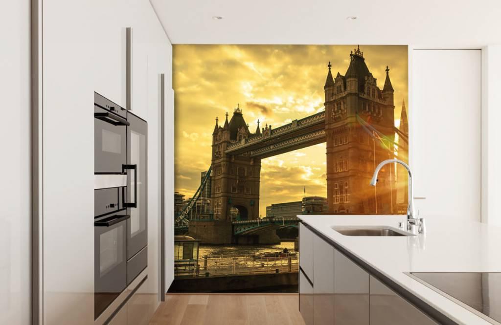 Steden behang - Londen Tower Bridge - Slaapkamer 4